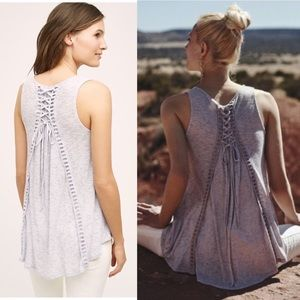 ANTHROPOLOGIE Lace Up Back Swing Tank